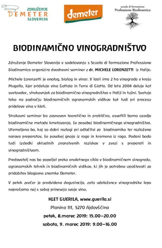 corso biodinamica slovenia